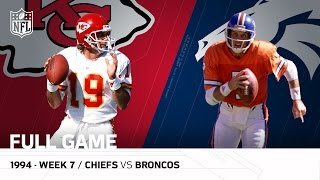 Chiefs vs. Broncos: Joe Montana vs. John Elway The Final Showdown | Week 7, 1994 | NFL Full Game