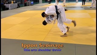 IPPON SEOINAGE SWITCH    left grips - right throw,    contest.