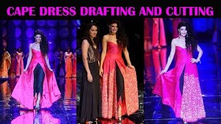 Download designer cape dress DIY | drafting and cutting of designer cape dress. 3Gp Mp4