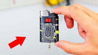 How to make a mini speaker from a lighter😱