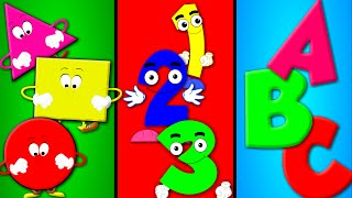 Shapes Song | Numbers Song | ABC song | Nursery Rhymes