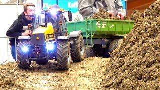 SUPER SCALE RC CONSTRUCTION MACHINES! 1:8 BIG RC TRUCKS! RC FASTTRAC & CAT MOBILE EXCAVATOR!