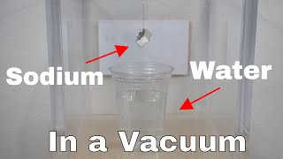 Will Sodium Metal and Water Still Explode in a Vacuum Chamber? Testing the Coulomb Explosion!