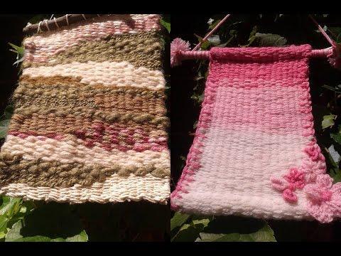 Como hacer un telar casero y con el un mini tapiz /Decoracion