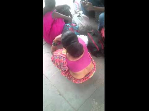 Indian Long hair Big Bun Aunt
