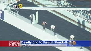 Deadly Ending To Pursuit After Man Climbs Port Of LA Crane, Gets Naked