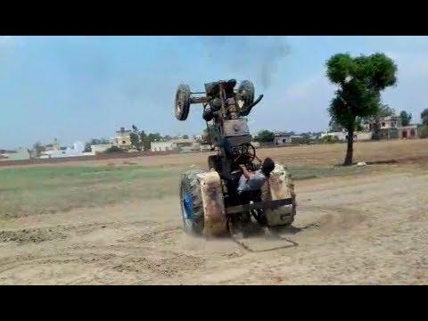 Tractor stunt: Swaraj 735 ਵਾਲੇ Veer ਦਾ New Stunt  Sirraa Laonda poora Mundda