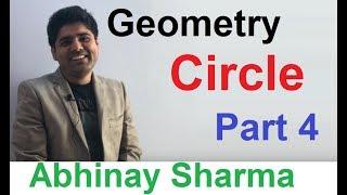 Geometry Part 33 Circle Part - 4 By Abhinay Sharma (Abhinay Maths)