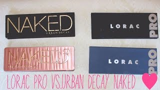 Palette Smackdown: Lorac Pro vs. Urban Decay Naked