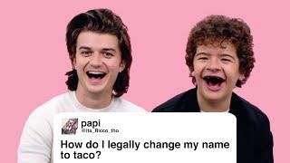 Stranger Things' Joe & Gaten Give Advice to Strangers on the Internet | Glamour