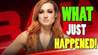 WWE NEWS -  WHAT HAPPENED WHEN WWE RAW WENT OFF AIR / BECKY LYNCH HAD A DARK MATCH