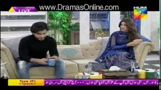 Check the Reaction of Feroz when Caller said Feroz to Propose Sajal in a Live Morning Show - Hum Tv
