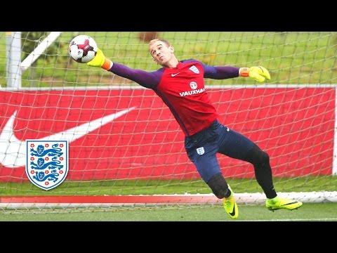 Super Agility Goalkeeper Test - Hart/Heaton/McCarthy prepare for Slovakia   Inside Training