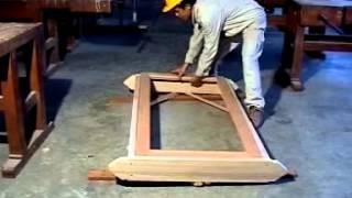 Pembuatan kusen cendela dan pintu
