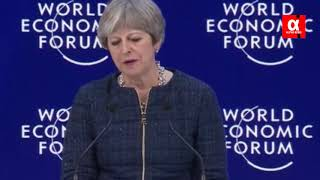 'Now it's time for NEW PARTNERS' Theresa May issues post Brexit warning to EU at Davos