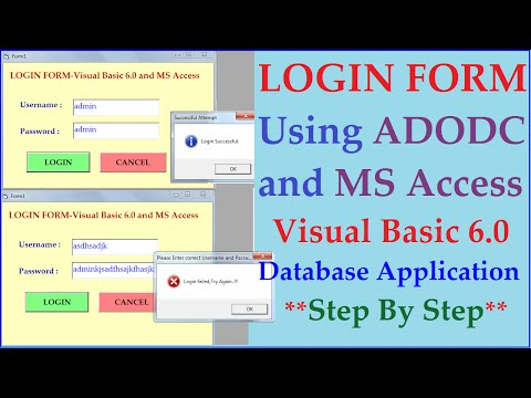 Xxx Mp4 Login Form Using Visual Basics 6 0 Adodc And Ms Access Database Step By Step Tutorial 3gp Sex