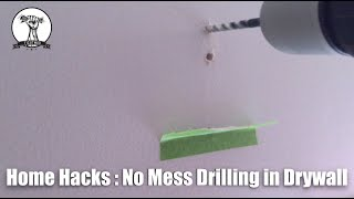 Home Hacks : Drilling In Drywall with No Mess!