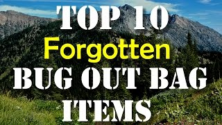 Top 10 Forgotten Bug Out Bag Items