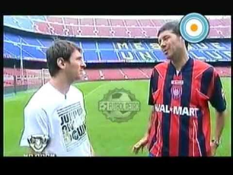 Messi y Tinelli en el Camp Nou 2009 part1 FUTBOL RETRO TV