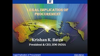 Webinar on Legal Implication of Procurement