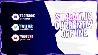 Free Twitch Banner Template - Offline Stream Fortnite - PSD - Free Download