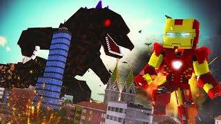 Minecraft: BATALHA DE GIGANTES - GODZILLA VS HOMEM DE FERRO GIGANTE !! ( NOVA SÉRIE )