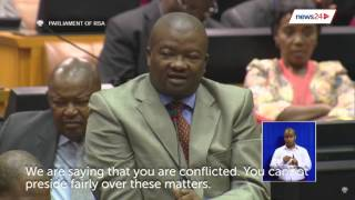 WATCH: Bantu Holomisa says Baleka Mbete is conflicted