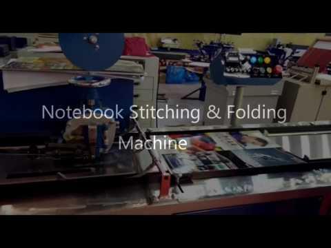 Automatic Notebook Stitching & Folding Machine M-09814312452 www.sukhrajmachinery.com