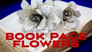 How To Make Paper Flowers from Book Pages