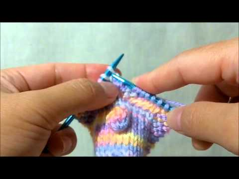 How to knit - Make Bobble#4 (MB#4)