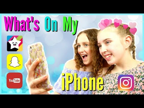 Xxx Mp4 WHAT S ON MY IPHONE Our Favourite Apps Millie And Chloe 3gp Sex