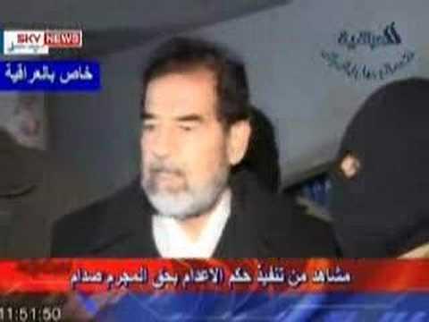Video of Saddam Hussein s hanging execution