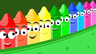 Crayons Nursery Rhymes - Ten in the Bed Song | Crayons Nursery Rhyme For Kids | Song For Children