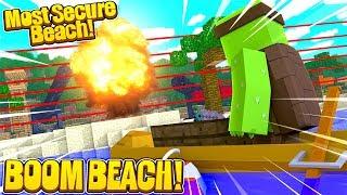 BOOM BEACH MINECRAFT CHALLENGE! - Secure Beach Challenge w/TinyTurtle