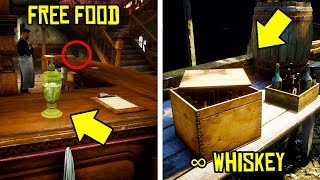 If You Go Here in RED DEAD ONLINE You Can Get INFINITE ALCOHOL & FREE FOOD | RDR2 Online Free Items