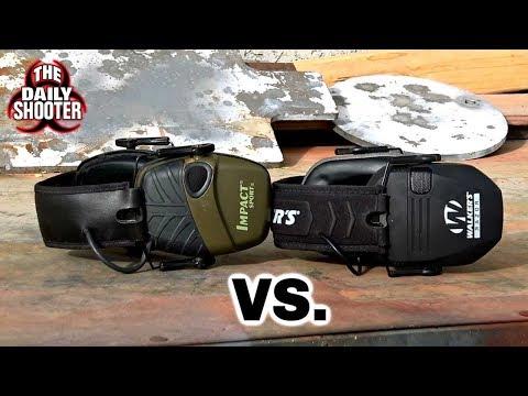 Howard Leight Impact Sport Vs. Walker Razor Electronic Earmuffs