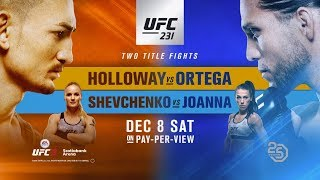 UFC 231: Holloway vs Ortega