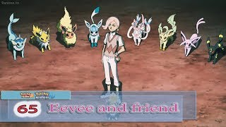 Eevee use Eevium Z Crystal get energy from its evolved friends