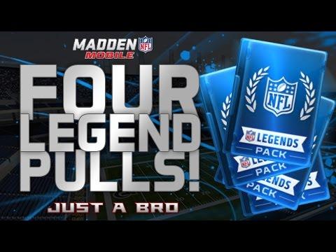 4 LEGEND PULLS! - Madden Mobile