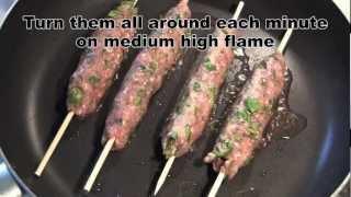 Quick Chicken Seekh Kabab in 5 mins