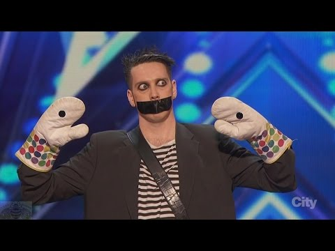 America s Got Talent 2016 Tape Face Incredibly Inventive Comedy Act Full Audition Clip S11E01