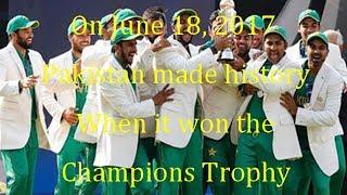Pakistan Cricket Team News | Pakistan made history  win the Champions Trophy | Karachi Times