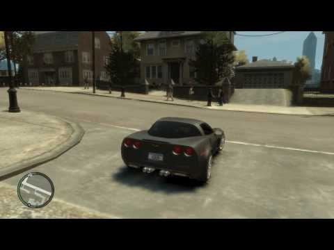 GTA IV My Cars and testing the Corvette Z06