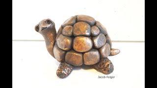 DIY Turtle In Polymer Clay Tutorial Sculpture Figurine Cute Turtle
