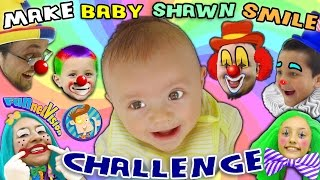 MAKE THE BABY SMILE CHALLENGE w/ Cutie Pie Shawn! (FUNnel Vision Family Fun!)