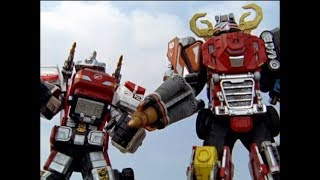 Power Rangers Operation Overdrive - Out of Luck - Megazord Fight (Episode 18)