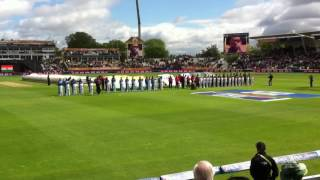 INDIA V PAKISTAN Champions Trophy national anthems