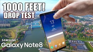 Galaxy Note 8 Drop Test from 1000 FEET!! | EXTREME DROP TEST | in 4K!