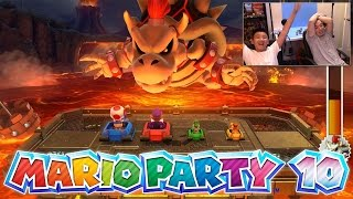 Chaos Castle - Mario Party 10 [Father & Son Gameplay] Wii U