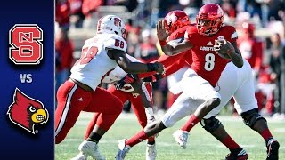 NC State vs. Louisville Football Highlights (2016)